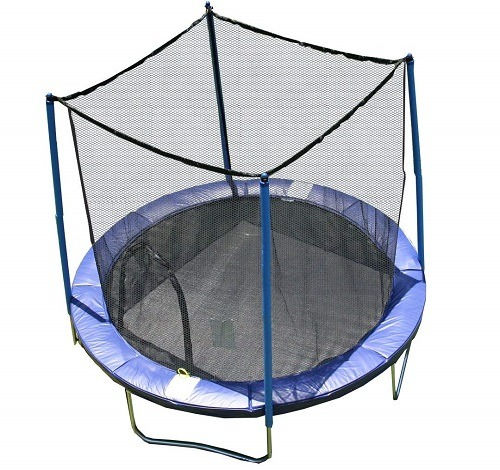 Airzone 14 Spring Trampoline And Enclosure Set: AirZone Outdoor Spring Trampoline With Safety Enclosure