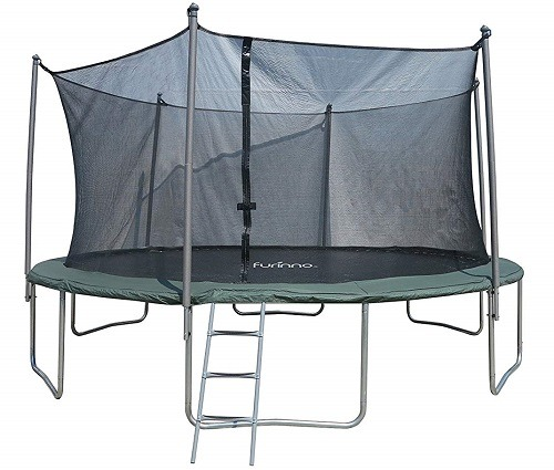 Furinno 10 FT Trampoline With 5 Legs And 5 Poles Enclosure